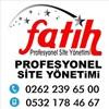 Fatih Site Yönetimi Ltd. Şti  Kocaeli Derince Profesyonel Site Bina ve Apartman Yönetimi