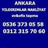 Ankara Yıldırımlar Nakliyat Ankara Yenimahalle Eşya Depolama